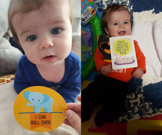 babies with cards